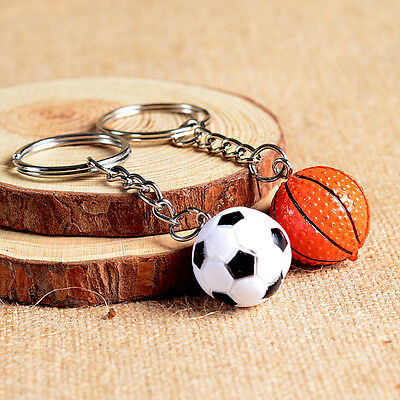 4cm Softball Ball Basketball Golf Charm Keychain Pendant G$ - Softball Keychains