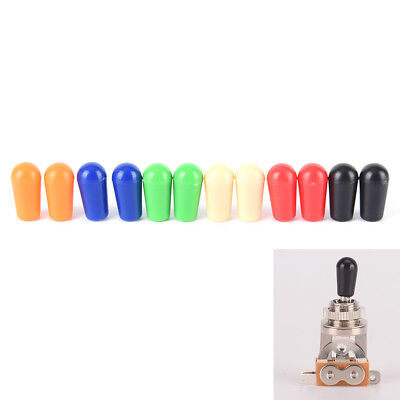 6x 4mm Toggle Switch Tip Caps Colorful for electric Guitar random color RS