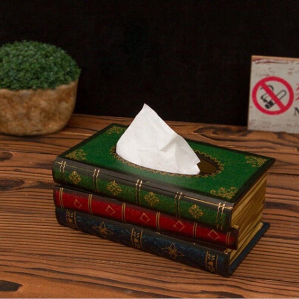 Feuchttücherbox Tissuebox Kosmetiktücherbox Buch Taschentuchspender DE STOCK +++