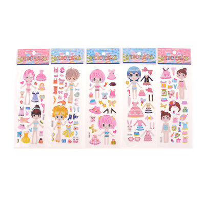 s Stickers Cute Girl Dress up Changing Clothes Kids Toys  W0 (Cute Girl Dress Up)