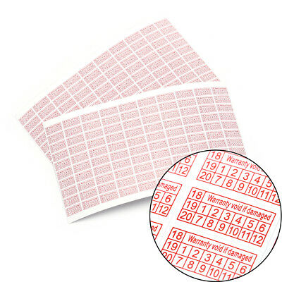 200x Warranty Void If Damaged Protection Security Label Sticker Seal Su