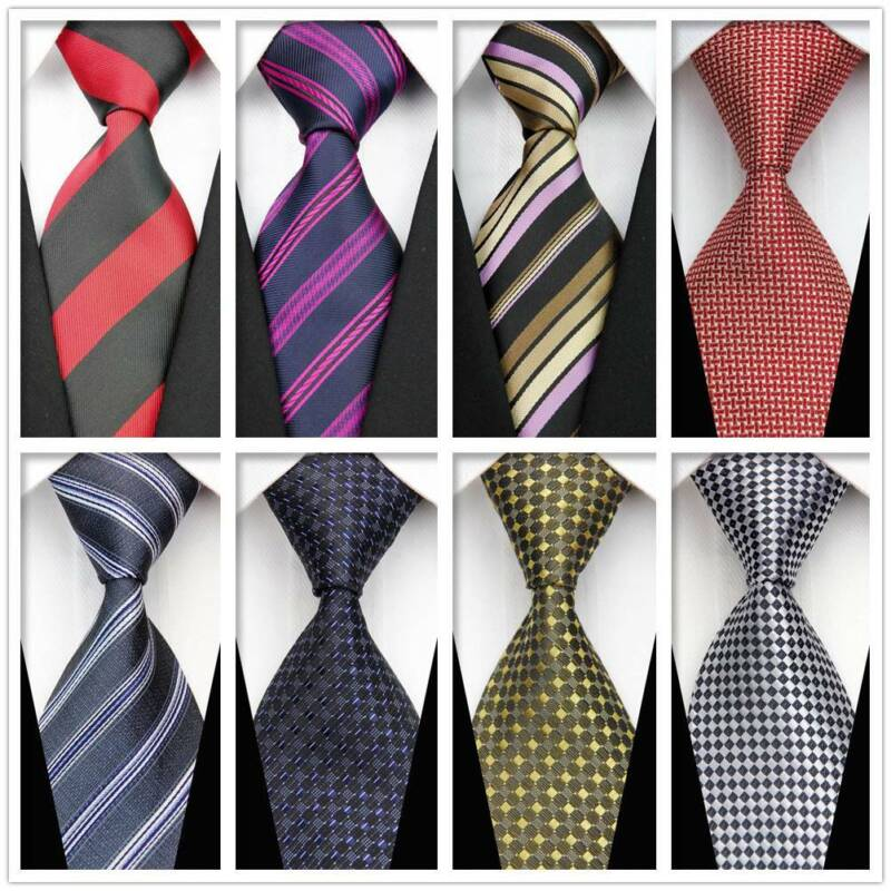 Black Blue Silver Mens Tie Flower Patterned Handmade 100/% Silk Wedding Necktie