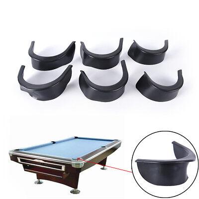 6Pcs/Set Billiard Pool Table Valley Pocket Liners Rubber Billiard Accessory Un