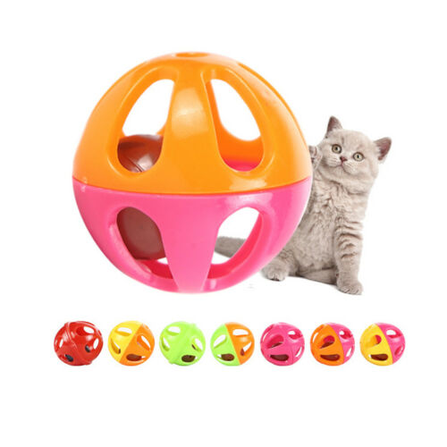 5pcs plastic pet toy small bell cat toy hollow out balls cat toys for kittenXBUK
