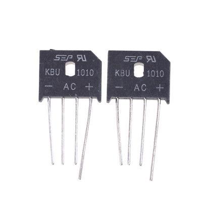 4pcs Kbu1010 10a 1000v Single Phases Diode Bridge Rectifier Gn Pl