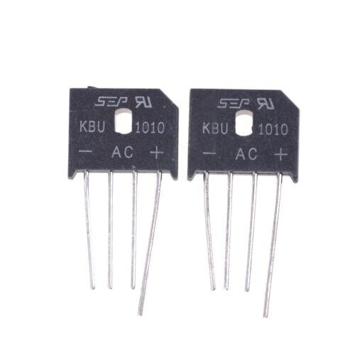 4PCS KBU1010 10A 1000V Single Phases Diode Bridge Rectifier. ZN