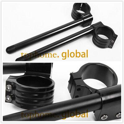 For Yamaha R1 1998-2011 50mm Fork Clip-ons Handle Bar Riser Regular Black CNC US