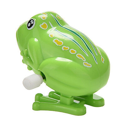 Best Wind up Frog Plastic Jumping Animal Classic Educational Clockwork Toy RNIU
