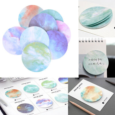 Natural Dream Series Self-adhesive Sticky Notes Memo Pad School Office Supply Hf