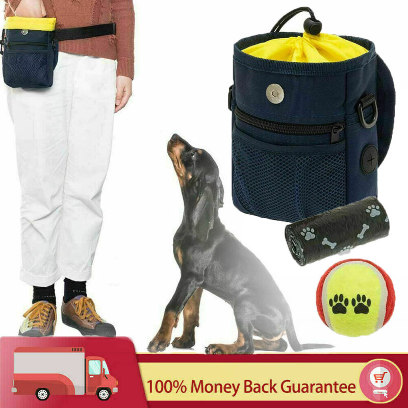 Dog Treat Pouch with Adjustable Belt For Training Pooper Bag & Chew Bag Sets