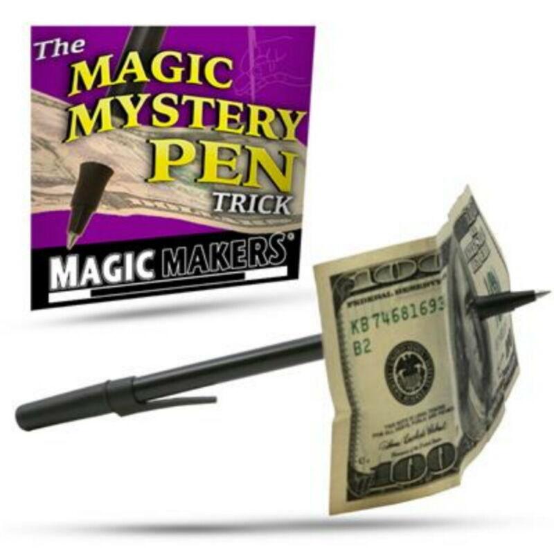 Magic Maker Mystery Pen Thru Bill Trick Ball Point Easy
