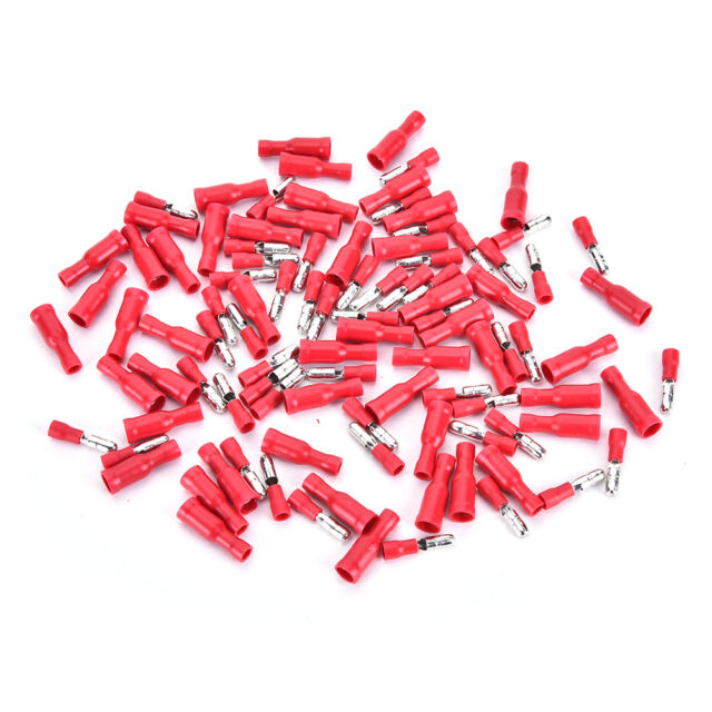 50 Pairs Top  4mm Female Male Bullet Butt Connector Electrical Crimp Terminals