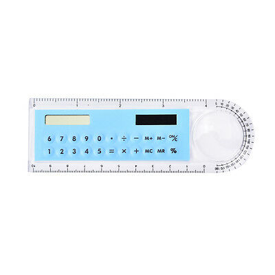 3in1 Mini Solar Power Calculator 10cm Long Magnifying glass with Ruler Pip RYJMO