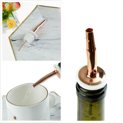 Rose Gold Stainless Steel Bottle Liquor Spirit Pourer Free Flow Pour Spout - F8