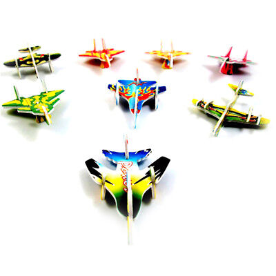 5Set@Paper Aircraft Vehicle 3D Puzzles Jigsaw Model Toys For Kid DIY Craft Gifts