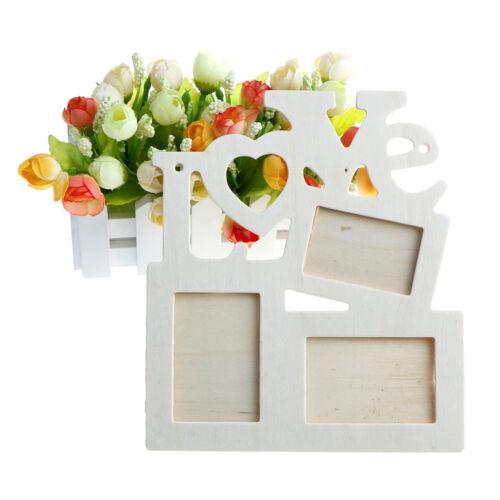fai da te romantico amore vuoto arte parete supporto in legno foto cornice casaX