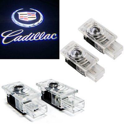 4x For CTS SRX ATS XTS Ghost LED Door Step Courtesy Shadow Laser Light Cadillac