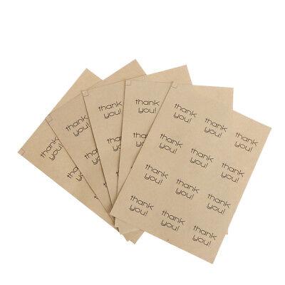 60pcs=5Sheets Vielen Dank Sticker Etiketten Hochzeit Umschlag Card Package UE