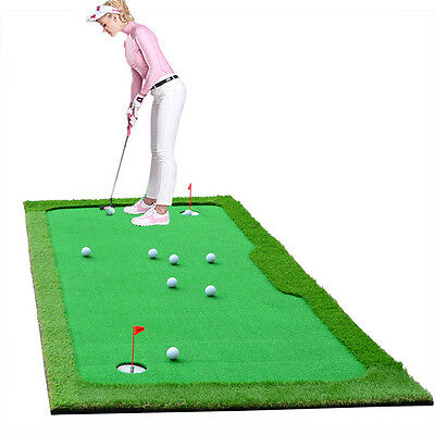 Personal Simulation Golf Putting Green Indoor outdoor Practice Mat Aids 4'x10'