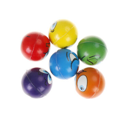 6.3cm Soft foam Emoji Faces Squeeze Stress Ball Soft anti-stress Kid toys GS