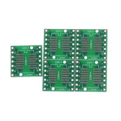 5pcs Sosopsoicssopqysopmsop14 To Dip 14 Adapter Pcb Board Converte Uf