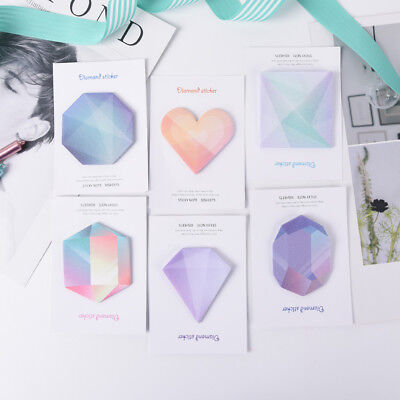 Diamond Notebook Note Paper Stickers Office School Supplies Notes Memo Fj