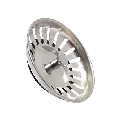Acero inoxidable fregadero de cocina tapón de drenaje cesta colador 7 F2