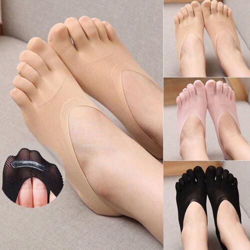 5 Pairs Women Cotton Invisible Toe Socks Five Finger Socks S