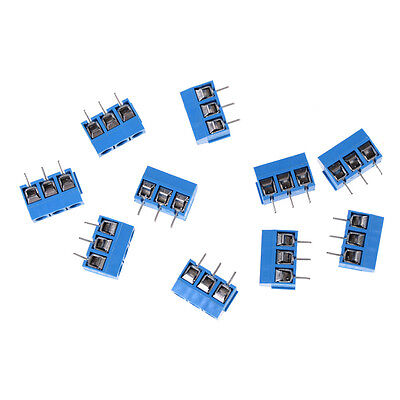 10x Kf301-3p Pitch 5.0mm Straight Pin Pcb 3pin Screw Terminal Block Connector V
