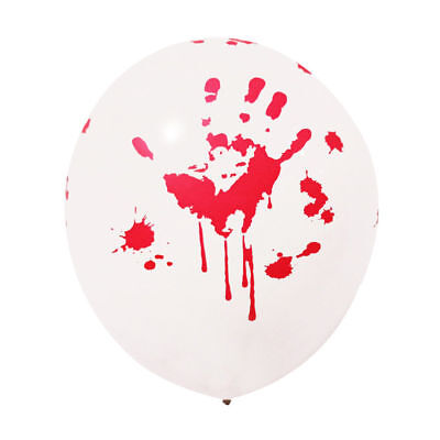 Bloody Hand Print Latex Balloons,Haunted House  or Halloween Costume Party Decor](Halloween Costume Balloons)