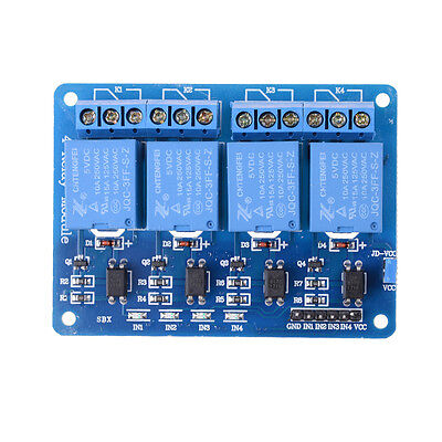 5v 4 Channel Relay Board Module With Optocoupler Led For Arduino Pic Arm Avr Hvf
