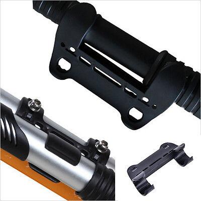 Schwarz Mini Fahrrad Pumpenhalter Tragbare Pumpe Halteklammern Halterung 4H