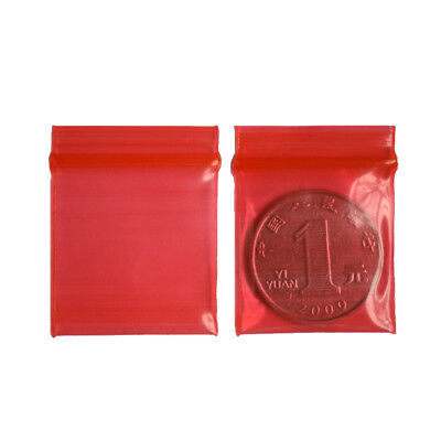 100x 3*4cm Jewelry coin Ziplock Zip Zipped Lock Reclosable Plastic Poly Bags RI
