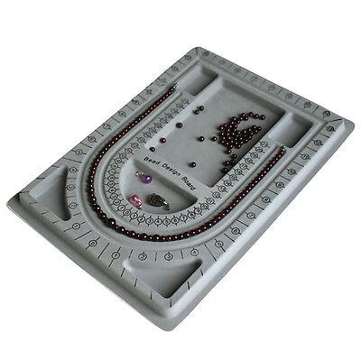Flocked Bead Board String Craft Tool Beading Jewellery Design Organiser Tray TIU