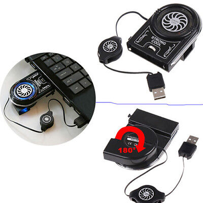 Mini Vacuum LED USB Cooler Air Extracting Cooling Pad Fan for Notebook Laptop Pe