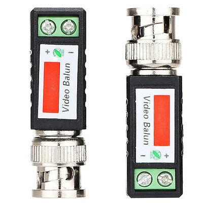 2x Coax CAT5 CCTV Camera Passives BNC Video Baluns to UTP Connector Transceiver0
