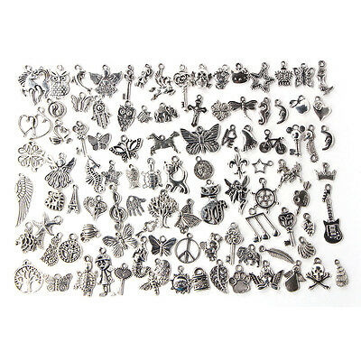 Großhandel 100 x Bulk lose Tibetan Silver Mix Charm Anhänger Schmuck DIY  UE