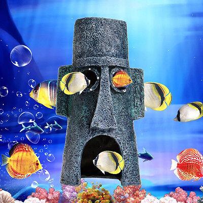Aquarium Landscaping Decoration Sponge Bob House Aquatic Fish Tank Ornament CH