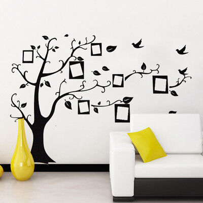 3d diy photo tree bird pvc wall decal family sticker mural art home decor Sm