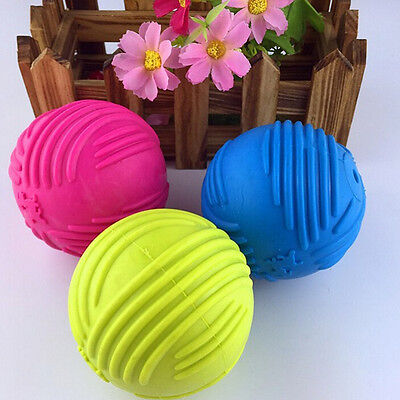 Indestructible Solid Rubber Ball Pet cat Dog Training Chew Play Fetch Biteb$