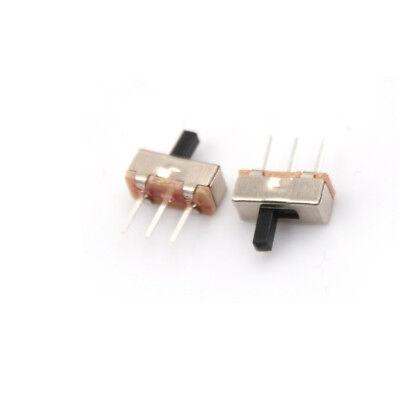 30pcs 2position 4mm Spdt 1p2t 3 Pin Pcb Panel Vertical Slide Switch El