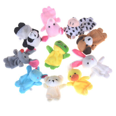Preschool Kids Finger Puppets Funny Plush Doll Family Story Children Baby Game A