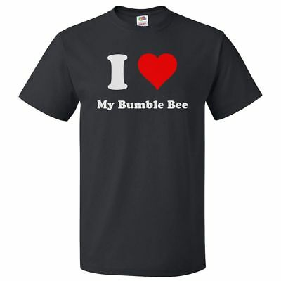 I Love My Bumble Bee T shirt I Heart My Bumble Bee Tee (Bumble Bee T Shirts)