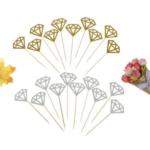 Cupcake Toppers Glitter Diamond for Cupcake Decor Bridal Sho