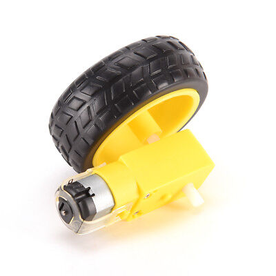 Arduino Smart Car Robot Plastic Tire Wheel With Dc 3-6v Gear Motor Xr