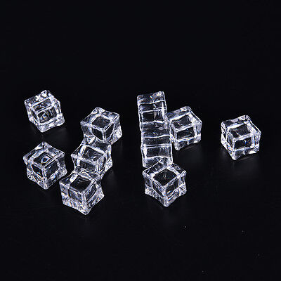 Acrylic Ice Cubes (10Pc/Psack Fake Artificial Acrylic Ice Cubes Crystal Clear 2/2.5/3cm Square)