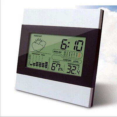 New Digital Lcd Alarm Clock Home Weather Station Thermometer Calendar Tc