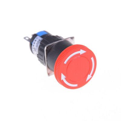 Red Mushroom Dc 30v 5a Ac 250v 3a Emergency Stop Push Button Switch Nic.sq