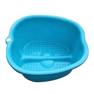 Blue Foot Soaking Bucket Basin Tub. Bath, Detox, Soak, or Scrub both Feet