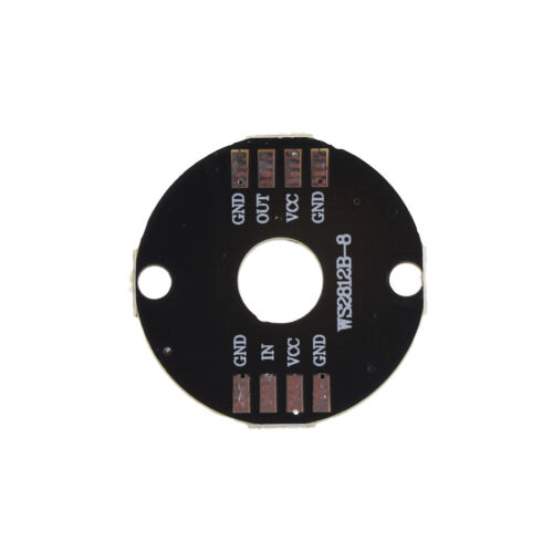 8-Bit WS2812 5050 RGB LED Lamp Panel Round Ring LED Driver Development BoarR.ju